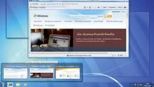 Screenshot der Windows 7-Oberfläche zum Start des Betriebssystems am 22. Oktober 2009