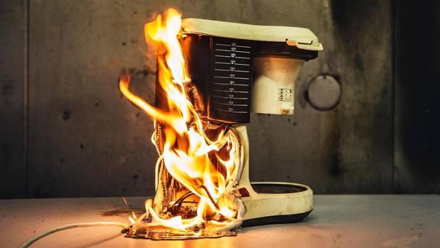 Brandrekonstruktion am Beispiel einer Kaffeemaschine