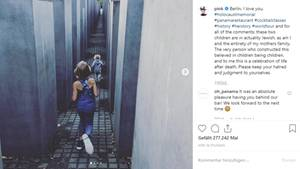 Pink postet Bild von Holocaust-Mahnmal in Berlin