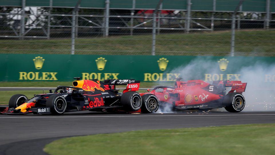 Vettelcrasht Max Verstappen ins Heck und macht sich und dem Konkurrenten das Rennen kaputt