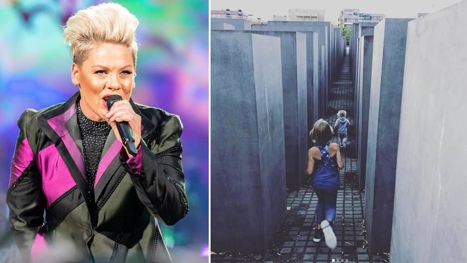 Pink: Sängerin verteidigt sich nach Fotos am Berliner Holocaust-Mahnmal