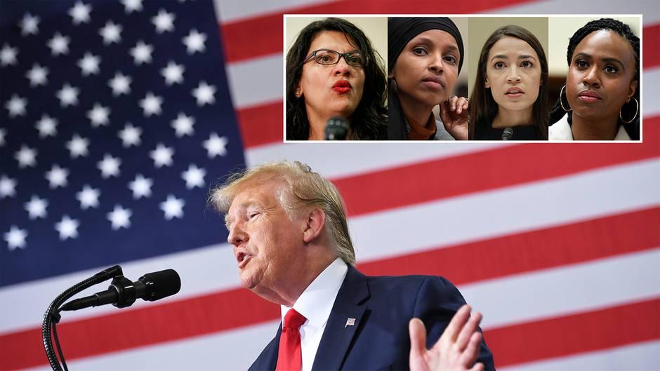 Donald Trump sagt Demokratinnen, sie sollten in ihre Heimat zurückkehren