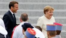 Bundeskanzlerin Angela Merkel und Frankreichs Präsident Emmanuel Macron