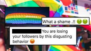 Homophobe kommentare unter dem Post des FCB