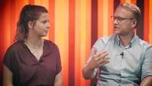 Klima-Aktivistin Luisa Neubauer diskutiert in der DISKUTHEK mit FDP-Politiker Michael Kruse
