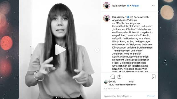 Instagram: Influencerin Louisa Dellert kassiert Shitstorm für Video