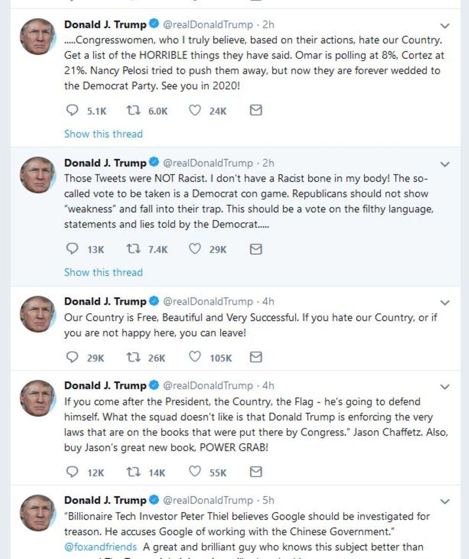 Trumps Tweets Dienstag