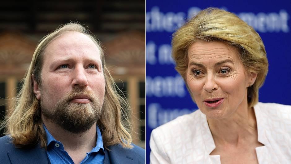 Von der Leyen : Das erwarten Grünen- und SPD-Politiker von der neuen EU-Kommissionschefin
