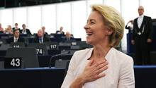 Die CDU-Politikerin Ursula von der Leyen wird erste Präsidentin der EU-Kommission.