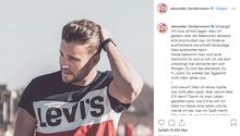 Auf seinem Instagram-Account wehrt sich Alex Hindersmann gegen die Anfeindungen.