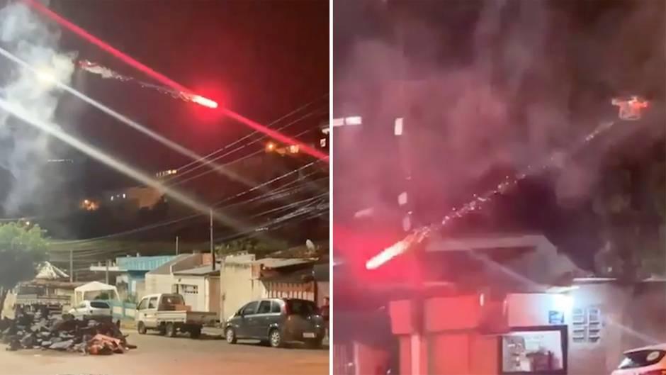 Brasilien: Mann baut Feuerwerksdrohne und beschießt Nachbarschaft
