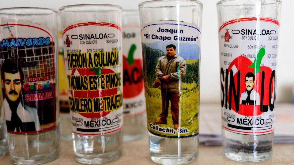 El Chapo auf Trinkglas