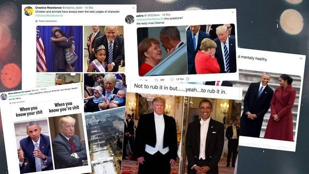 Tweets, die Trump mit Obama vergleichen