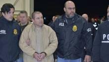 """Joaquin """"El Chapo"""" Guzman bei seiner Auslieferung an die USA"""