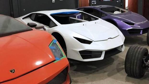 Gefälschte Sportwagen