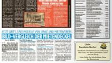 """Geburtstagsgrüße an Angela Merkel, in Form einer Anzeige in der """"Bild""""-Zeitung (Berlin/Brandenburg)"""