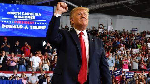Donald Trump bei einer Wahlkampfveranstaltung in North Carolina