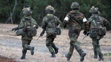 Soldaten der Bundeswehr auf den Truppenübungsplatz im brandenburgischen Lehnin