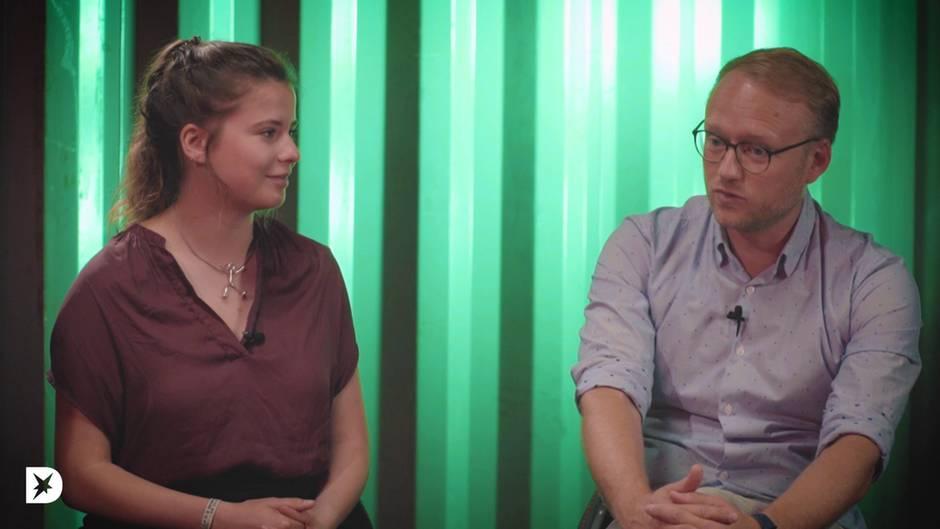 Luisa Neubauer und Michael Kruse in der der stern-DISKUTHEK
