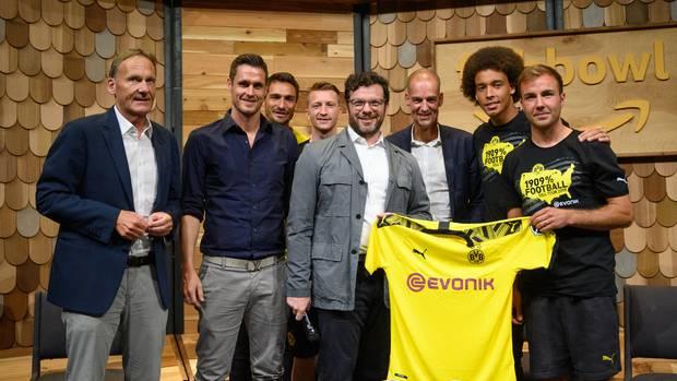 Mannschaftsmitglieder des BVB