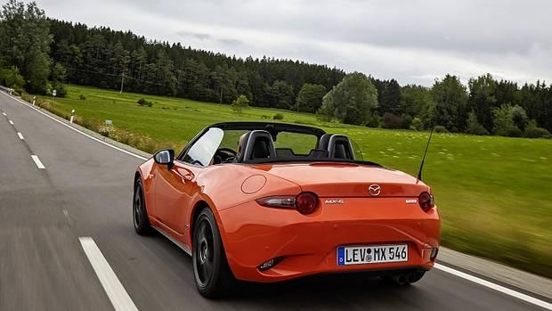 Das Mazda MX-5 Jubiläumsmodell 2019 hat den 135 kW / 184 PS Zweiliter-Motor