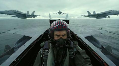 Tom Cruise im Cockpit eines Kampfjets