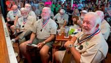Key West, USA. Jedes Jahr wird in der Touristenstadt in Florida ein Hemingway-Doppelgängergesucht. 135 Teilnehmer nahmen dieses Mal an dem Wettbewerb teil.Ernest Hemingway lebte den 1930er Jahren in Key West.