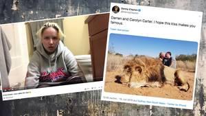 Sydney Carter brach in einem Video mit ihrem Vater