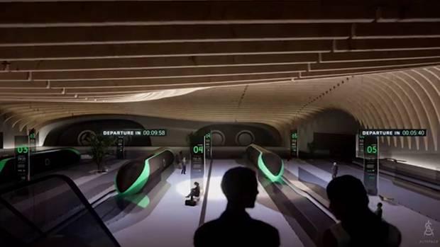 Mobilität der Zukunft: So könnte eineHyperloop-Station aussehen.