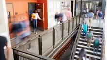 Treppenhaus einer afrikanischen Schule