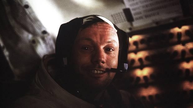 Neil Armstrong an Bord des Apollo 11-Landesmoduls