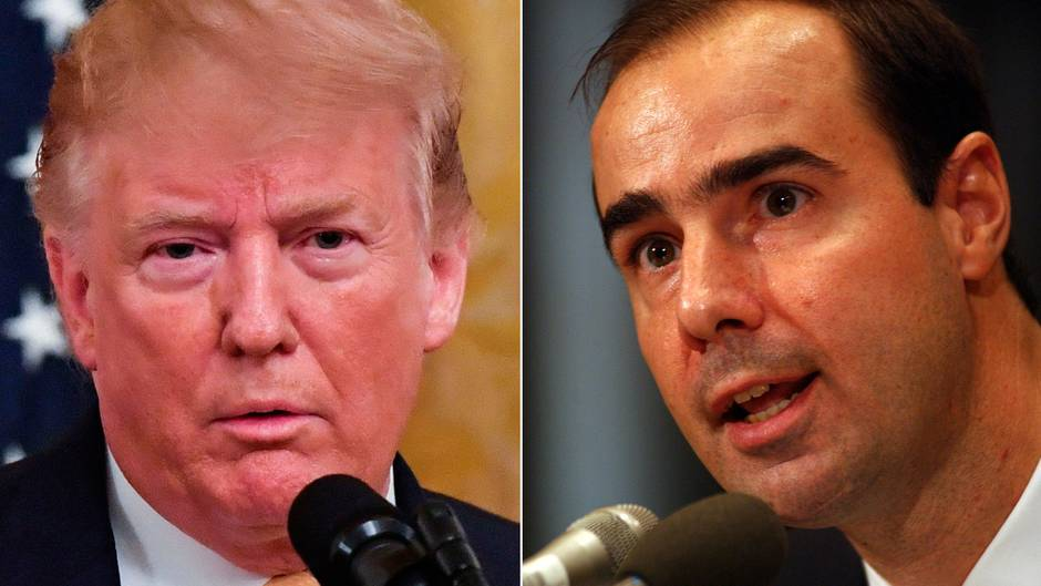 US-Präsident Donald Trump (l.) willEugene Scaliazum neuen Arbeitsminister machen