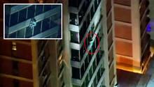 Philadelphia: Flucht vor Feuer – Mann rettet sich wie Spiderman aus brennendem Hochhaus