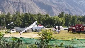Das in Gilgit Flugzeug vom Typ ATR42 von Pakistan International Airlines