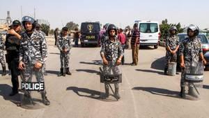 Straßensperre des ägyptischen Militärs