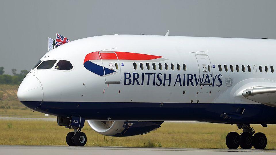 Ein Jet von British Airways