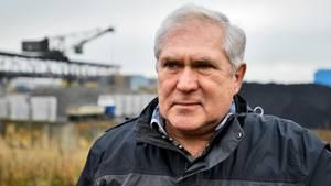 Wolfgang Neiß im Schrotthafen Ruhrort