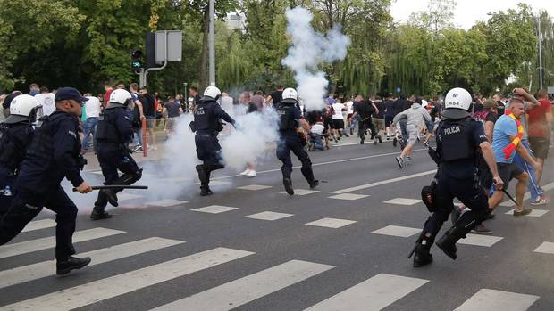 Białystok in Polen: Rechte Hooligans attackieren Gay-Pride-Parade