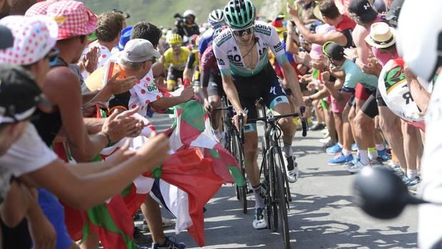 Emanuel Buchmann auf der schweren Pyrenäen-Etappe zum Col du Tourmalet