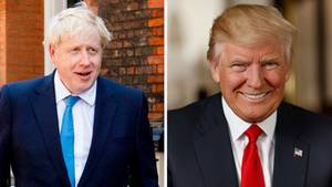 Boris Johnson am Morgen des Tags der Abstimmung in London