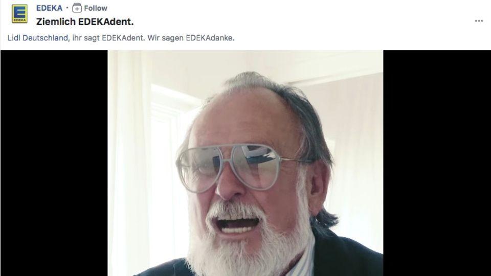 Edeka Werbung mit Friedrich Liechtenstein