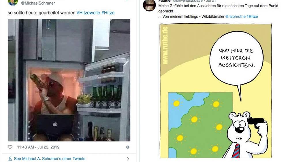 """Hitze in Deutschland : """"Und hier die weiteren Aussichten"""": So kreativ reagieren die Twitternutzer auf die Hitze"""