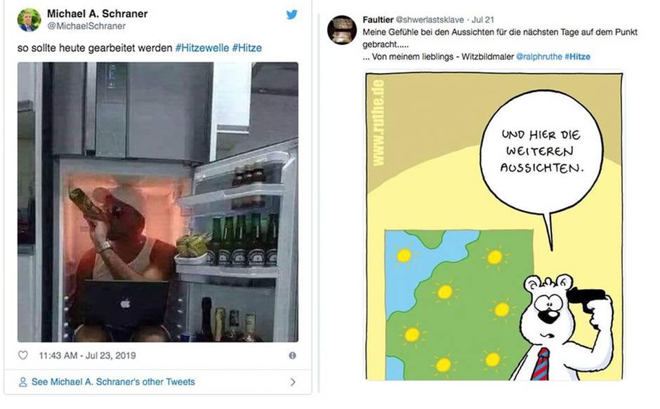 """Sommer in Deutschland : """"So sollte heute gearbeitet werden"""" – so kreativ reagieren Twitternutzer auf die Hitze"""
