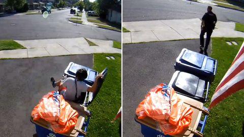 Oregon: Junge versteckt sich vor der Polizei in der Mülltonne