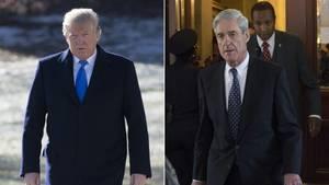 US-Präsident Donald Trump (l.) und Ex-Sonderermittler Robert Mueller