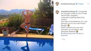Vip News: Daniela Katzenberger ist auf Instagram wieder zu Späßen aufgelegt