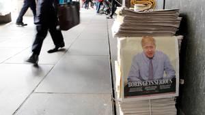 Boris Johnson auf der Titelseite einer britischen Zeitung