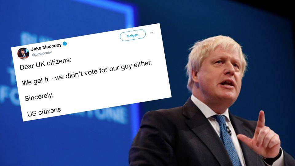 Twitter-Reaktionen nach Johnson-Wahl: Amerikaner zeigen sich auf Twitter solidarisch mit Briten.