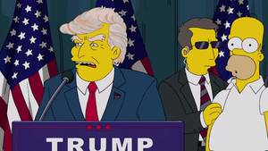 "Donald Trum in ""Die Simpsons"""
