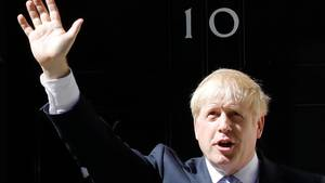 Boris Johnson vor